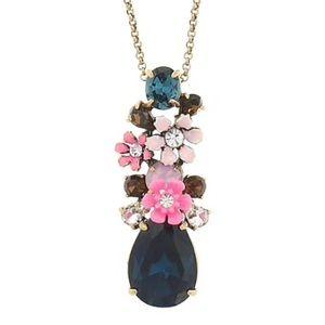 J. Crew posey pendant floral necklace!